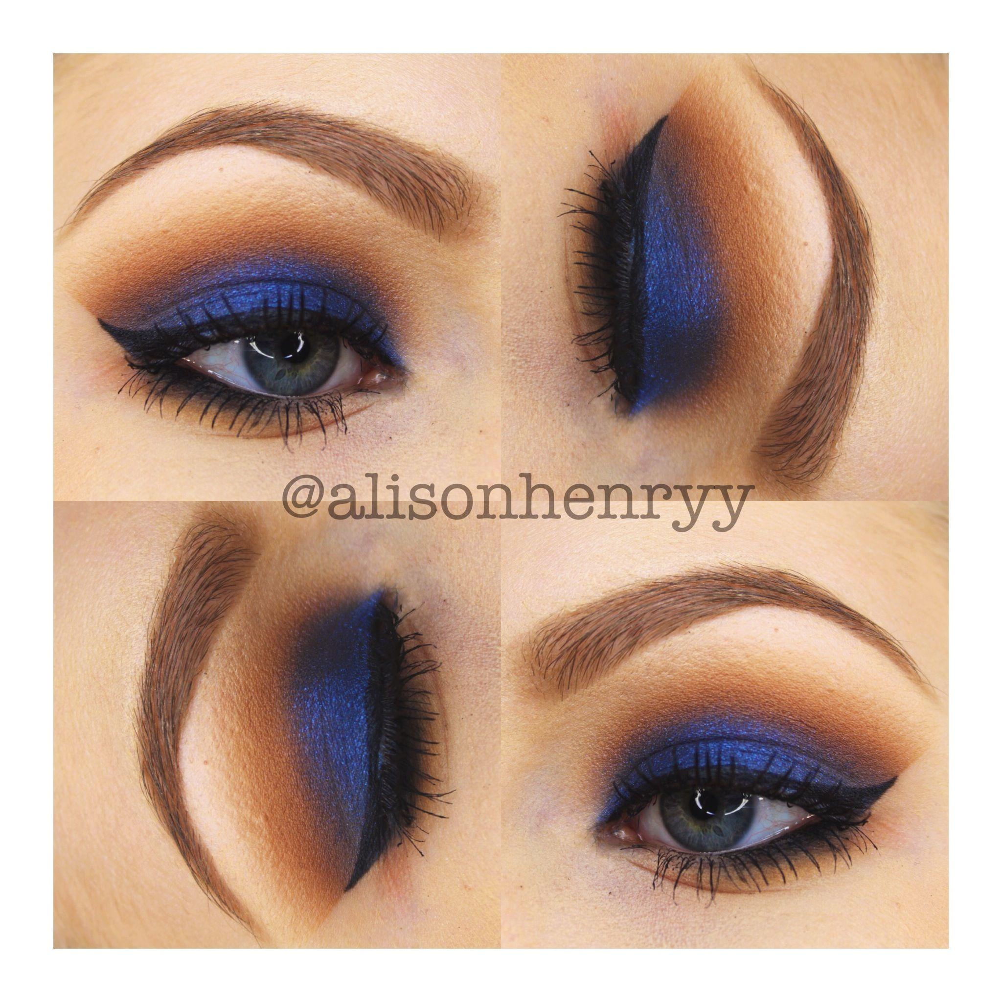 Peanuts Kiss And Makeup: Warm Browns Make Navy Blue So Wearable!