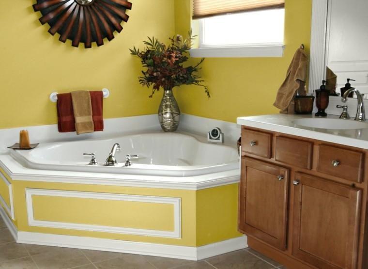 Moderne Badezimmer vibrierende Farben für Wände Pinterest