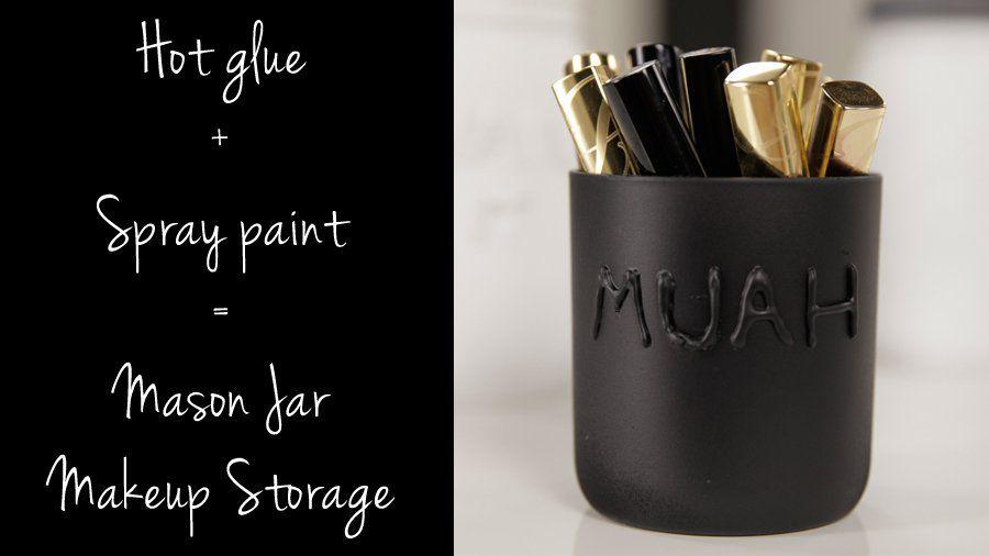 Einmachglas Make-up Lagerung: Das süßeste DIY aller Zeiten?: Einmachgläser haben viele Verwendungsmöglichkeiten, …