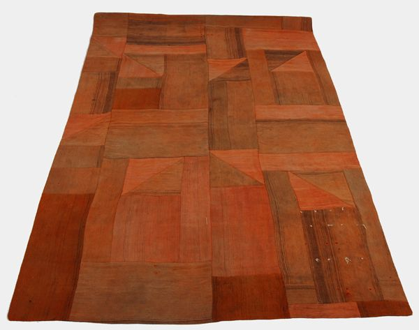Burnt Orange Kitchen Large Kilim Rug In Burnt Orange And