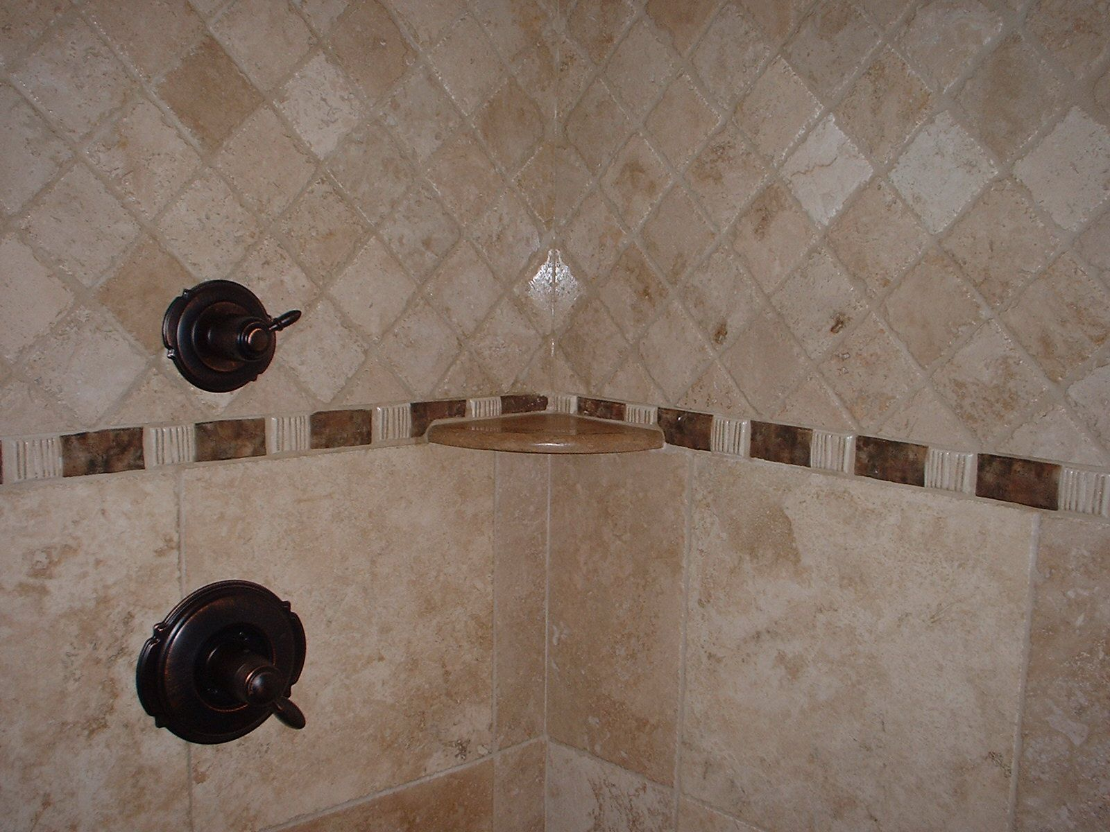 shower tile ideas travertine shower with custom tile designs view from outside of - Walk In Shower Tile Design Ideas