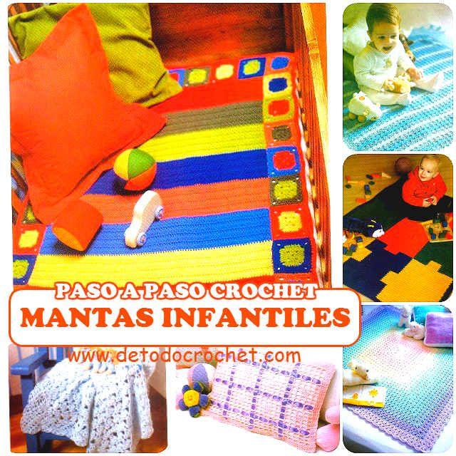 6 patrones y paso a paso de mantas para bebes - crochet | regalitos ...