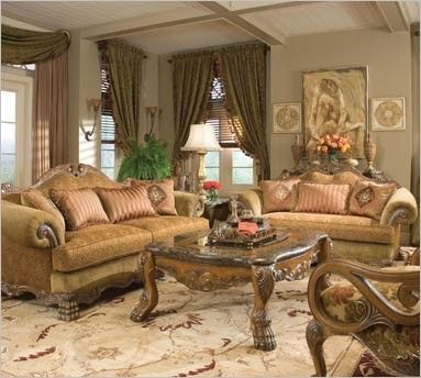 Chateau beauvais collection michael amini great room - Chateau beauvais living room furniture ...