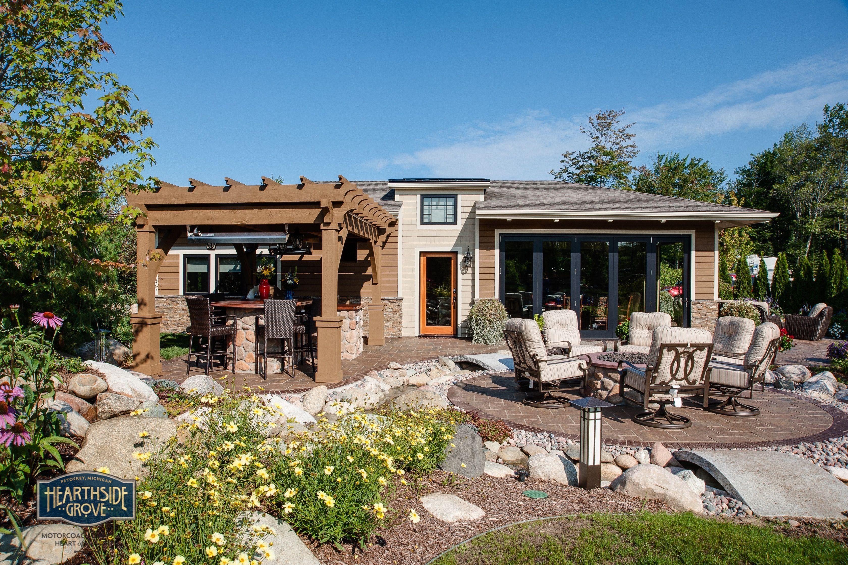 Hearthside Grove Luxury Motorhome Resort Lot 157   #exterior #pergola  #bungalow #patio
