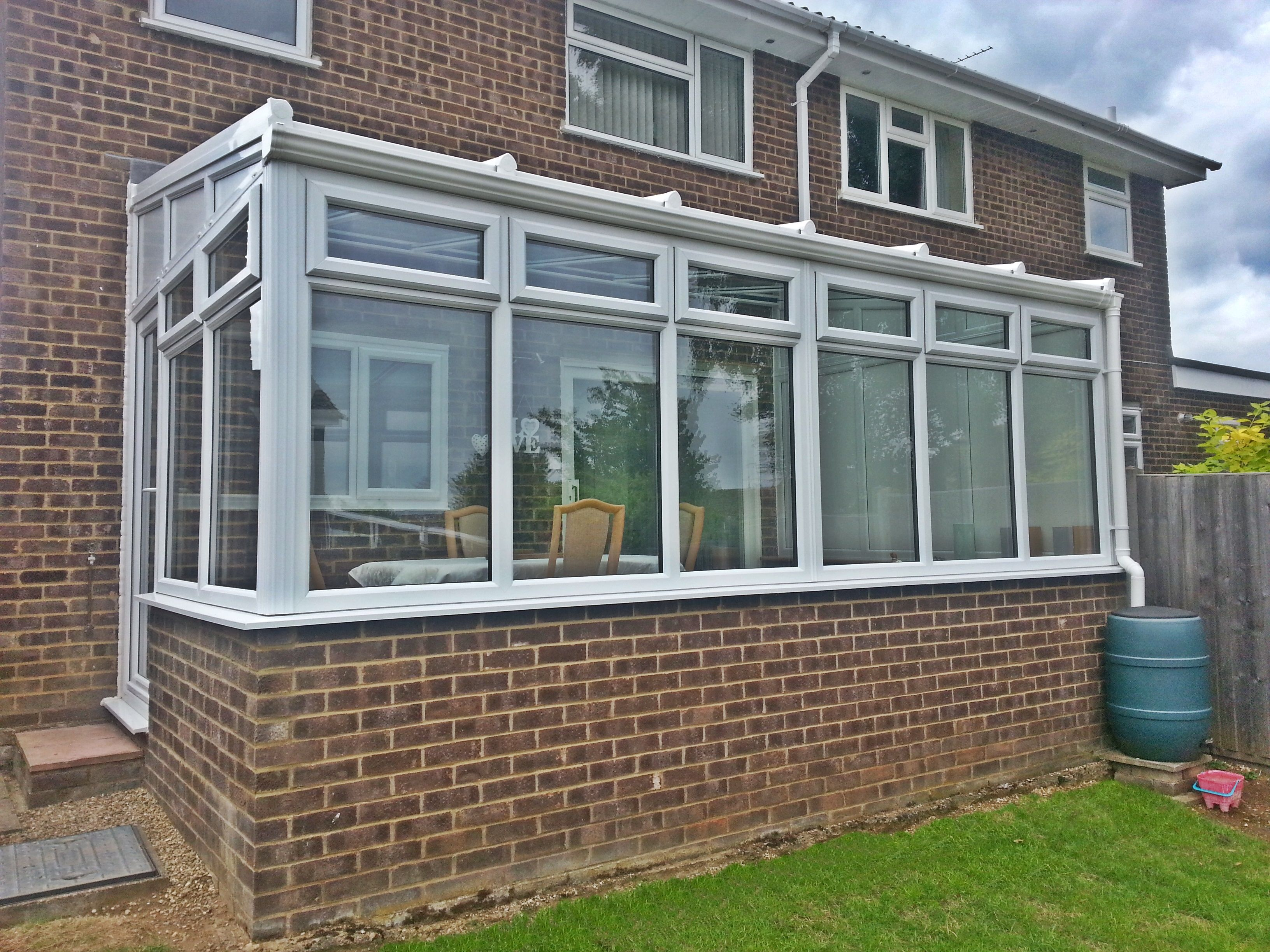 Upvc window ideas  white upvc conservatory supplied and installed by unicorn windows