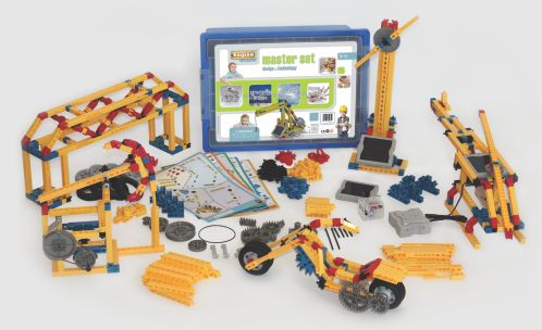 Engino - projects that teach about simple machines, laws of physics, and renewable energy