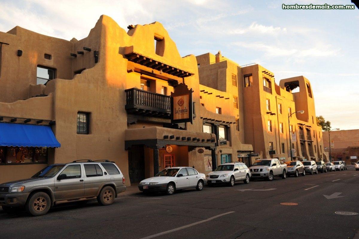 Construcción realizada con la técnica de Adobe en Santa Fe Nuevo México.