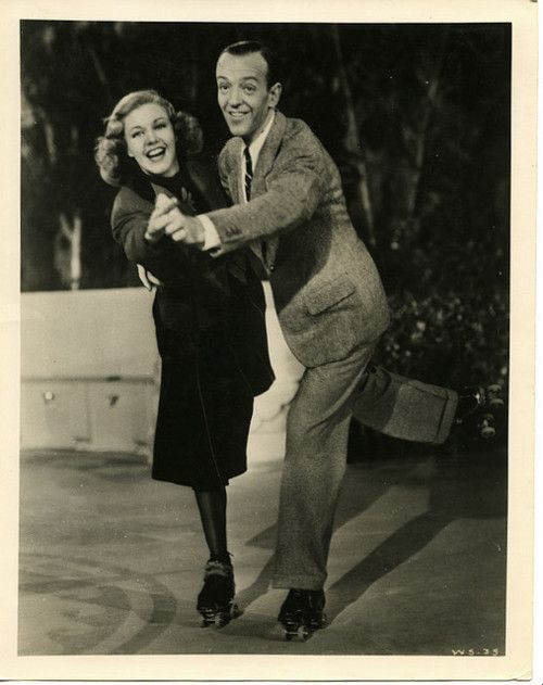 Ginger Rogers And Fred Astaire Dancing On Roller Skates For Shall We Dance 1937 Fred Astaire Fred And Ginger Ginger Rogers