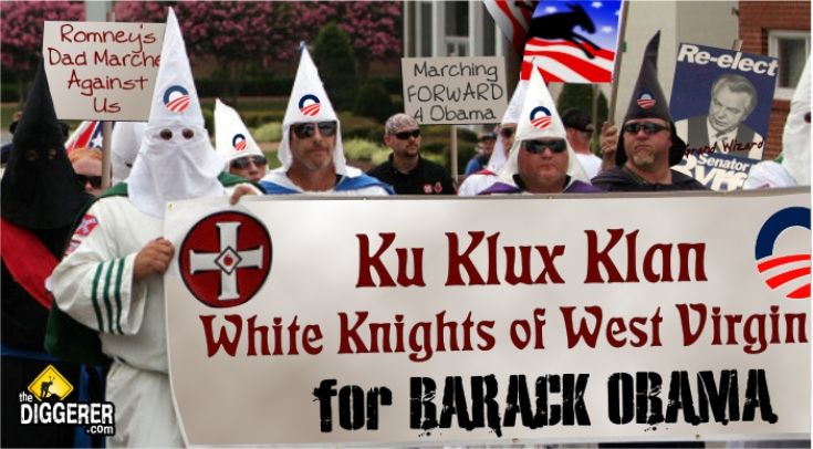 KKK White Knights of West Virginia for Barack Obama announcing a rally scheduled in September