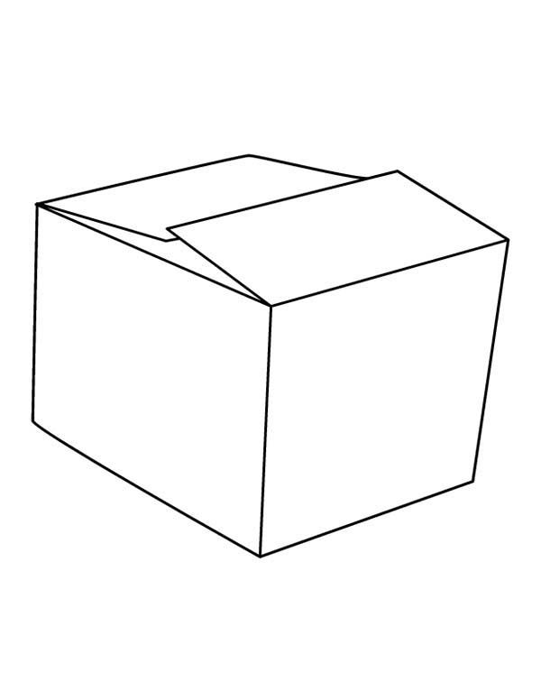 Box Picture Of Box Coloring Page Picture Boxes Coloring Pages Box