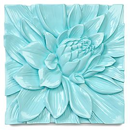 How To Hang Decorative Tile On Wall I Love This Ceramic Flower Plaquei Want To Get Two Blue And Two