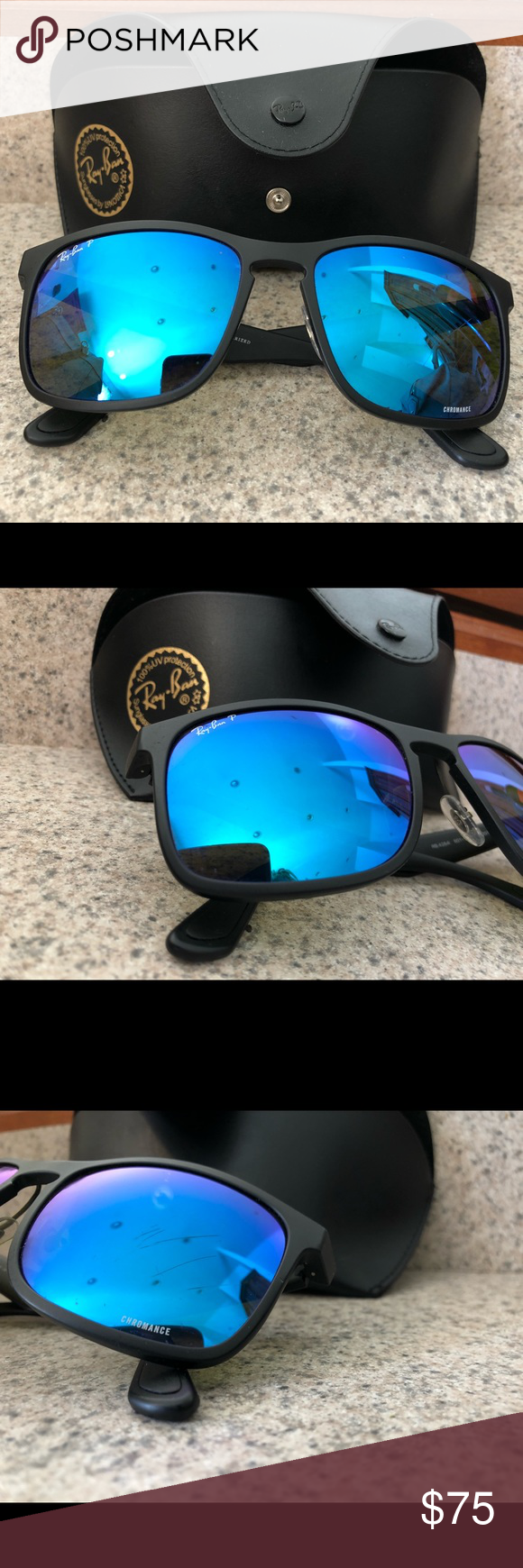 0214434cb003d3 Rayban polarized sunglasses - Chromance Lens These are Ray-Ban RB4264  Chromance Square Lens sunglasses. They have been worn a few times.