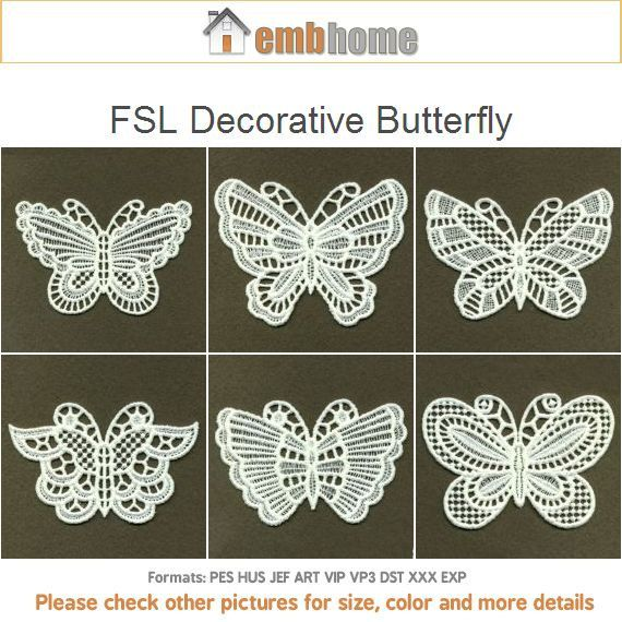 Fsl Decorative Butterfly Free Standing Lace Machine