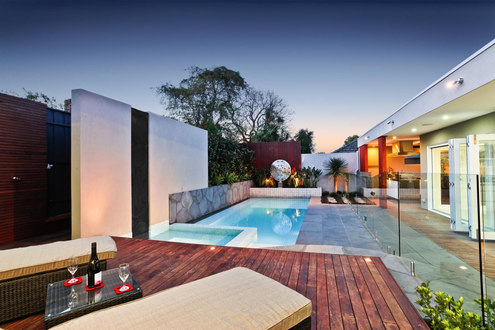 A Pool with an Avant-Garde Wall Waterfall in Surrey Hills by Serenity Pools recommendations