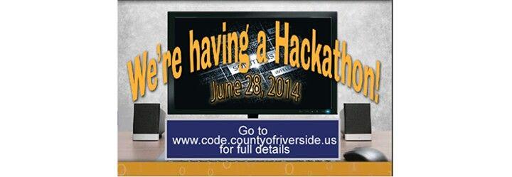 County of riverside hackathon june 28 2014 riverside