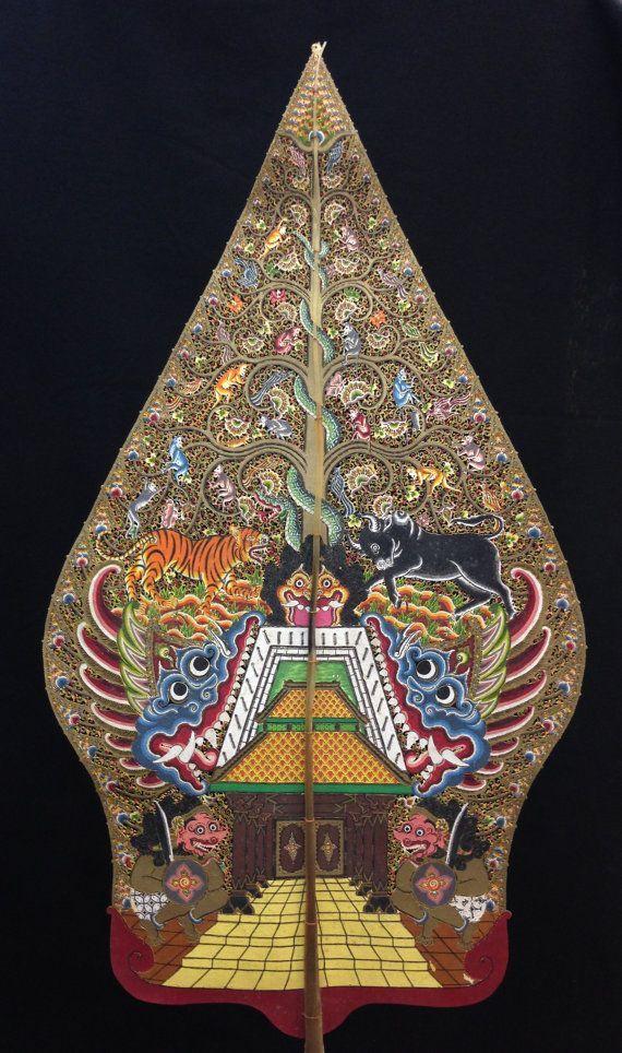 wayang kulit shadow puppet gunungan from by ethnicartandjewelry 250 00 seni tradisional seni grafis seni 3d wayang kulit shadow puppet gunungan