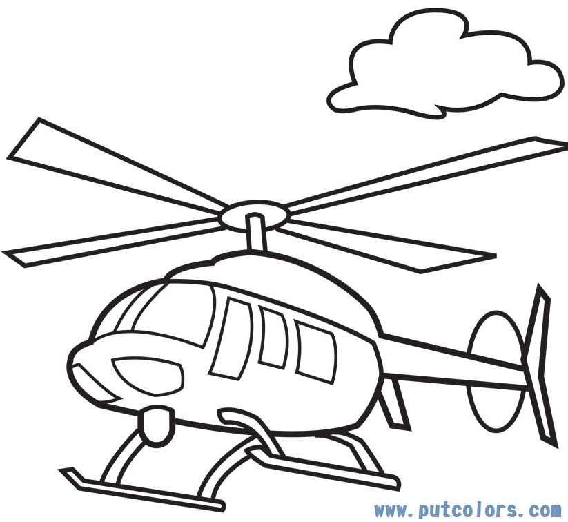 Helicopter Coloring Pages Clipart Panda Free Clipart Images