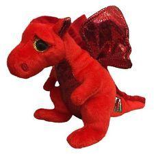 7a6ad69892a Y Draig Goch the Red Welsh Dragon - TY Beanie Babies - Plush Teddy - Soft  Toy