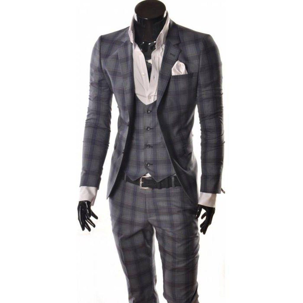 3df3bfdacd3cd 2015 MODA İTALYAN KESİM KARELİ TAKIM ELBİSE C 37 Men's Suits, Blazer Suit,  Suit
