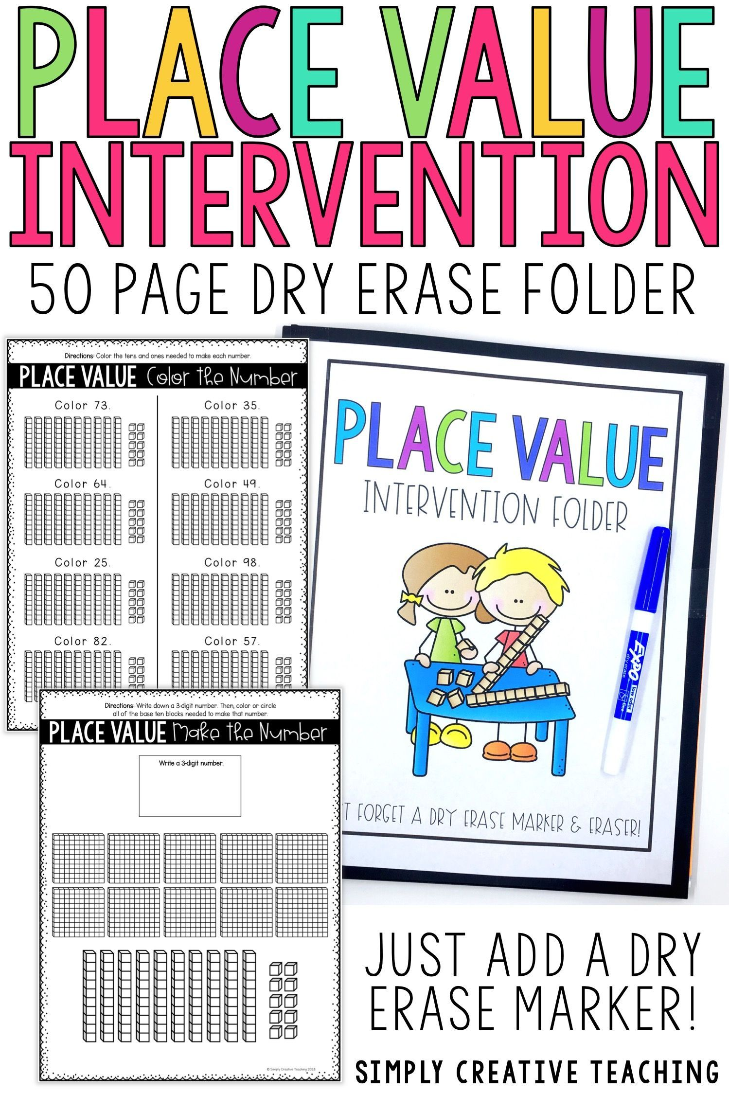 Place Value Intervention Or Extra Practice Folder