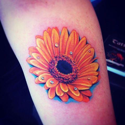 100 s of daisy tattoo design ideas pictures gallery tattoo design rh pinterest com au gerbera daisy tattoo small Daisy Flower Arm Tattoo Designs for Women