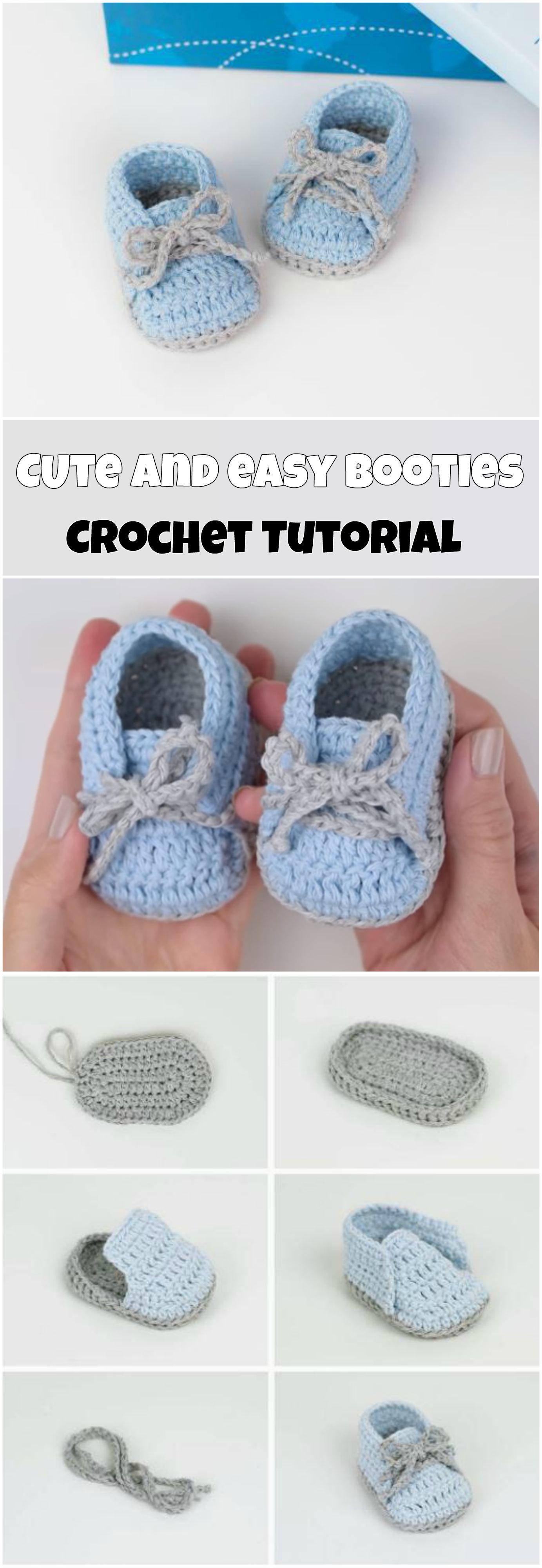 Cute And Easy Baby Booties | crochet | Pinterest | Bebe, Bebé y ...