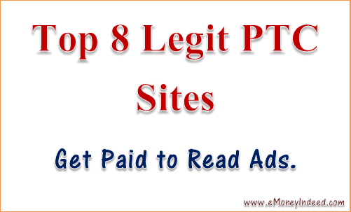 Get Paid to Read Ads with Top 8 Legit PTC Sites - eMoneyIndeed