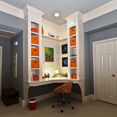 My Corner Desk Contemporary Hall Atlanta By A B Xpress Home Bookshelves Built In Home Office Design