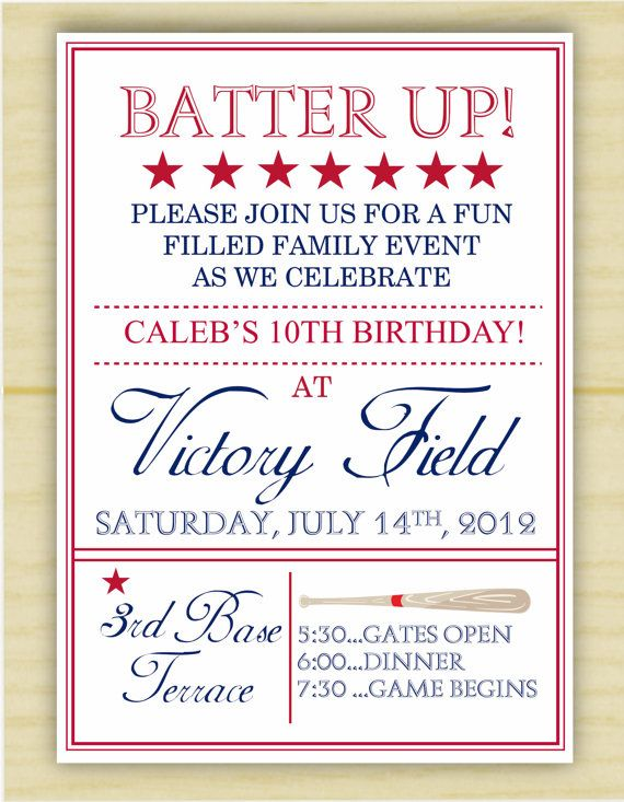 Vintage Baseball Birthday Invitation Set Of By Executivecreations 2000