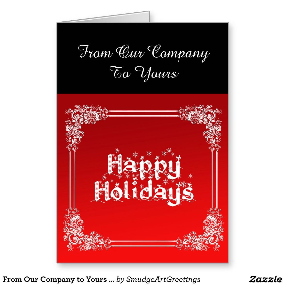 From Our Company To Yours Happy Holidays Text Holiday Card