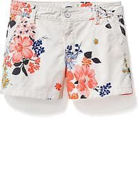 4547cd45f78 Printed Chino Shorts for Girls