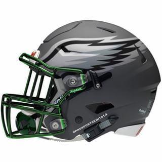 Concept Helmet Silver For The Eagles Do Not Like It Football Helmets Eagles Football Football Helmet Design