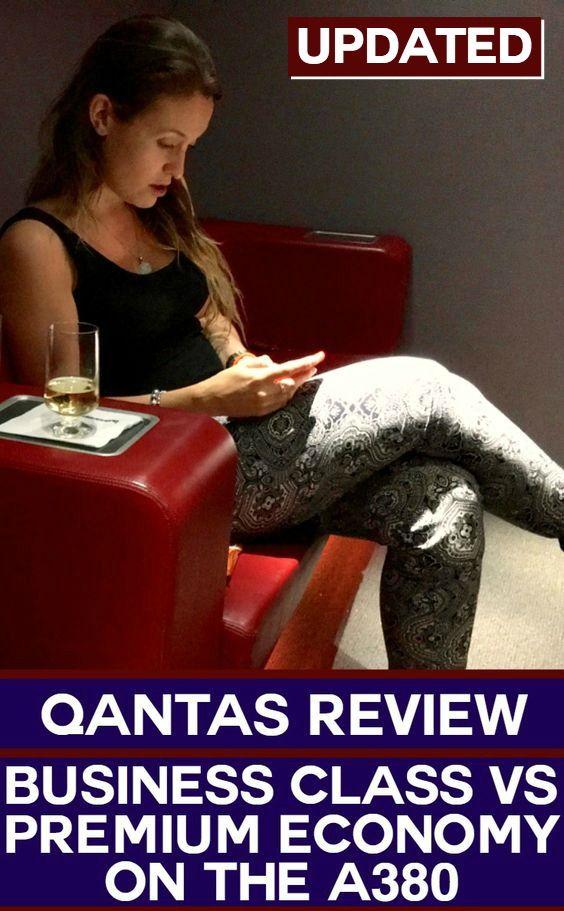 Qantas business class vs premium economy A380 review ...