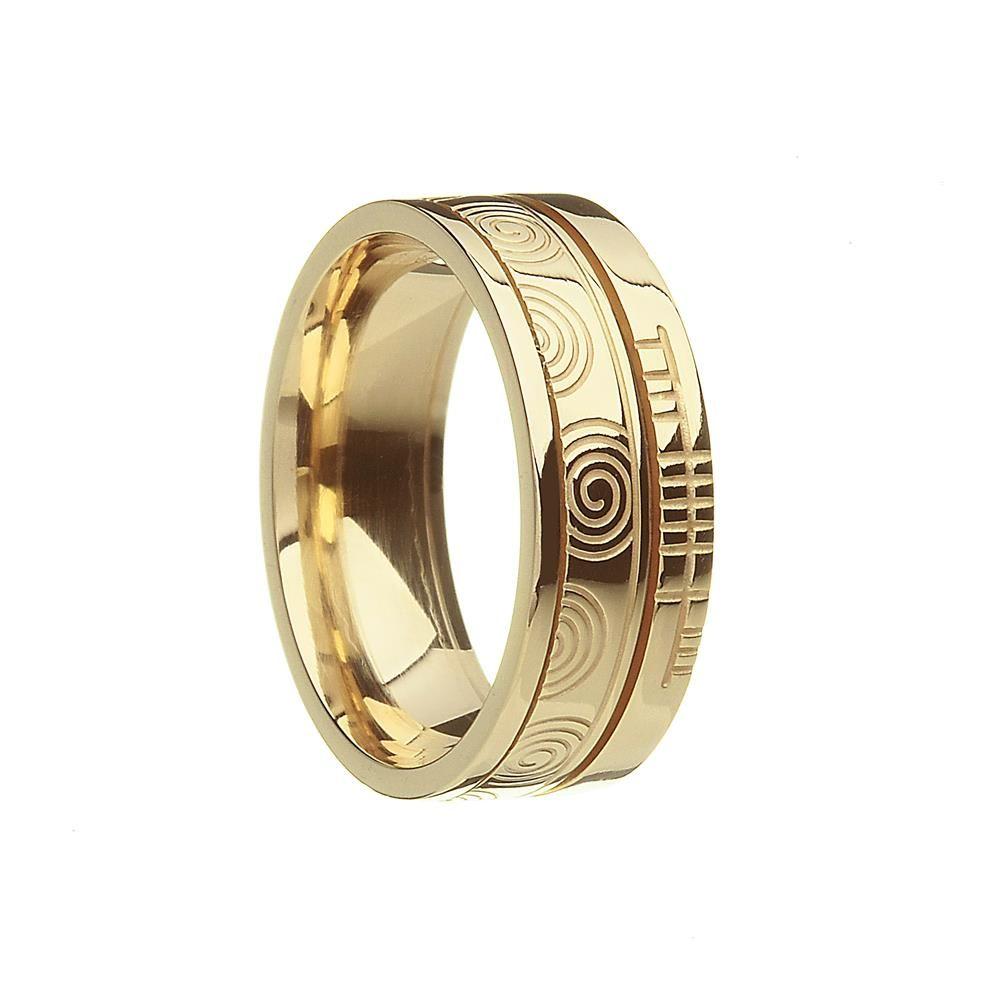 Newgrange the inspiration! Celtic knot wedding ring