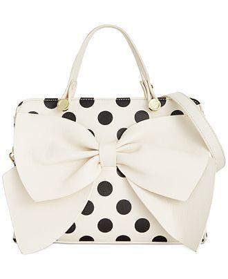 30462aee8 Betsey Johnson Bow Regard Satchel - All Handbags - Handbags & Accessories -  Macy's