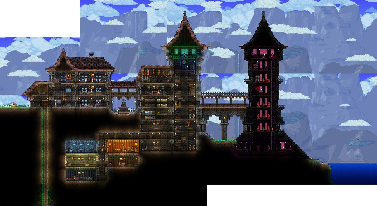 Terraria house progress 4 by wolfsoren deviantart