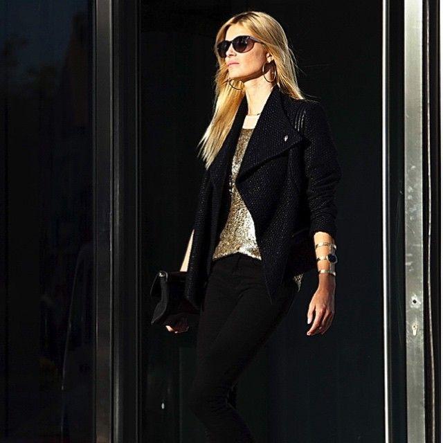 black & gold: elle_spain's photo on Instagram