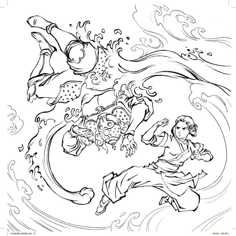 37++ Avatar the last airbender coloring page free download