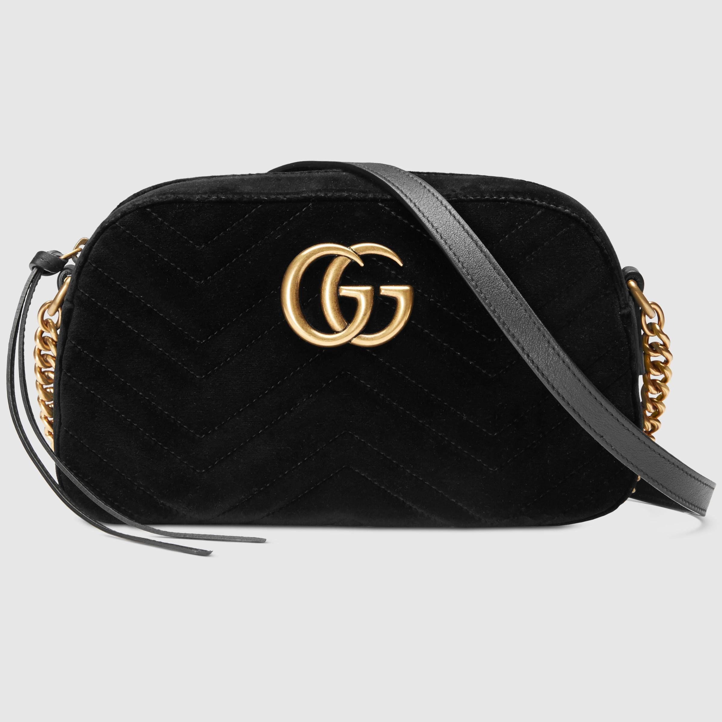 66fe099c926 GG Marmont velvet small shoulder bag - Gucci Women s Shoulder Bags  4476329QIBT1000