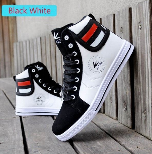 add58b98c4c2 Casual Leather Lace Up USA Street Style Men s Fashion Sneakers 3 Colors