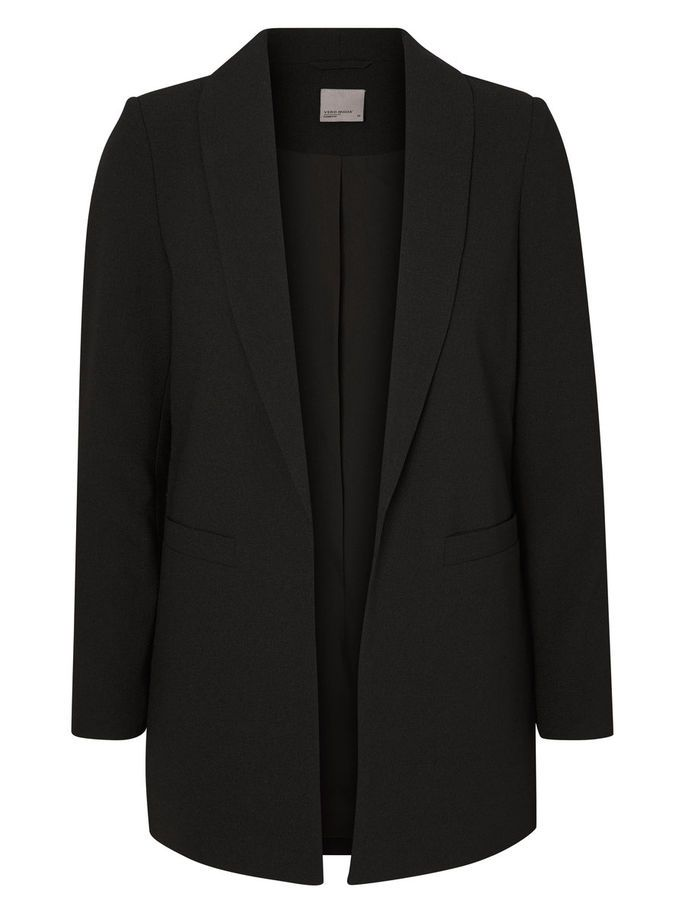 LOOSE FIT BLAZER, Black, large