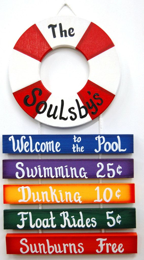 Personalized Outdoor Pool Sign Welcome To The Pool Rope