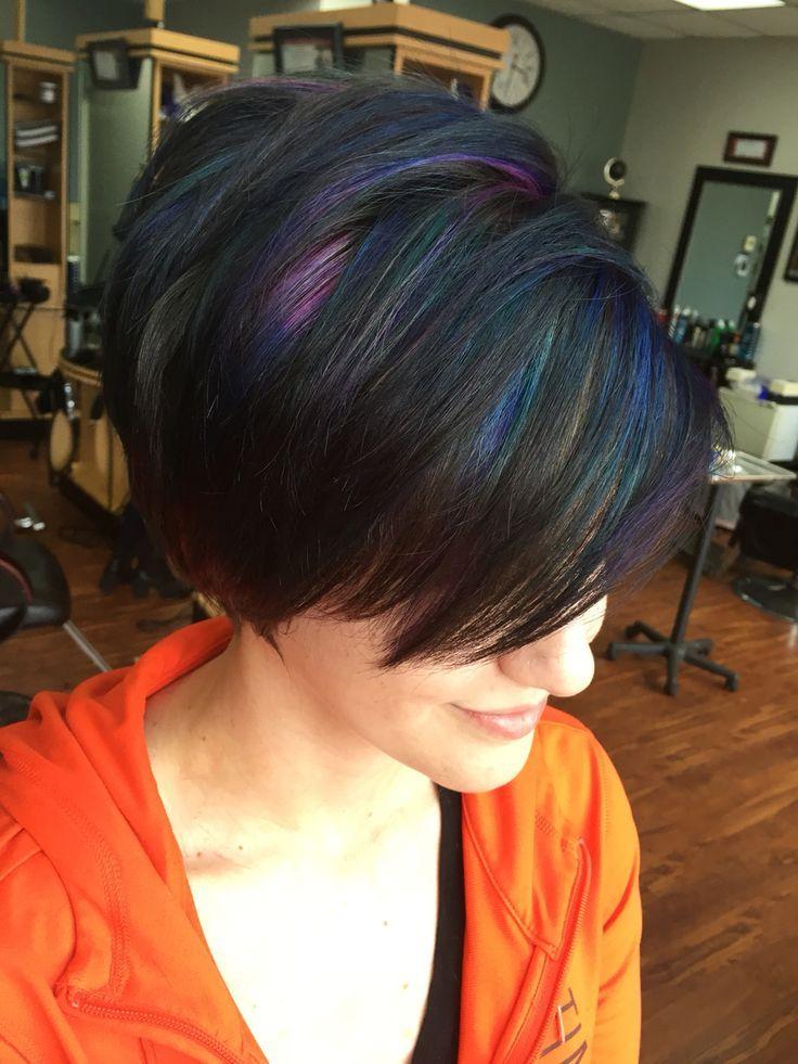Oil Spill Short Hair Slick Hairstyles Oil Slick Hair