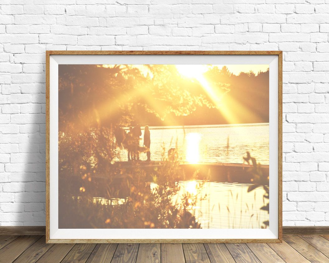 Sunset print, Lake wall art, ocean print, fall wall decor, ontario ...