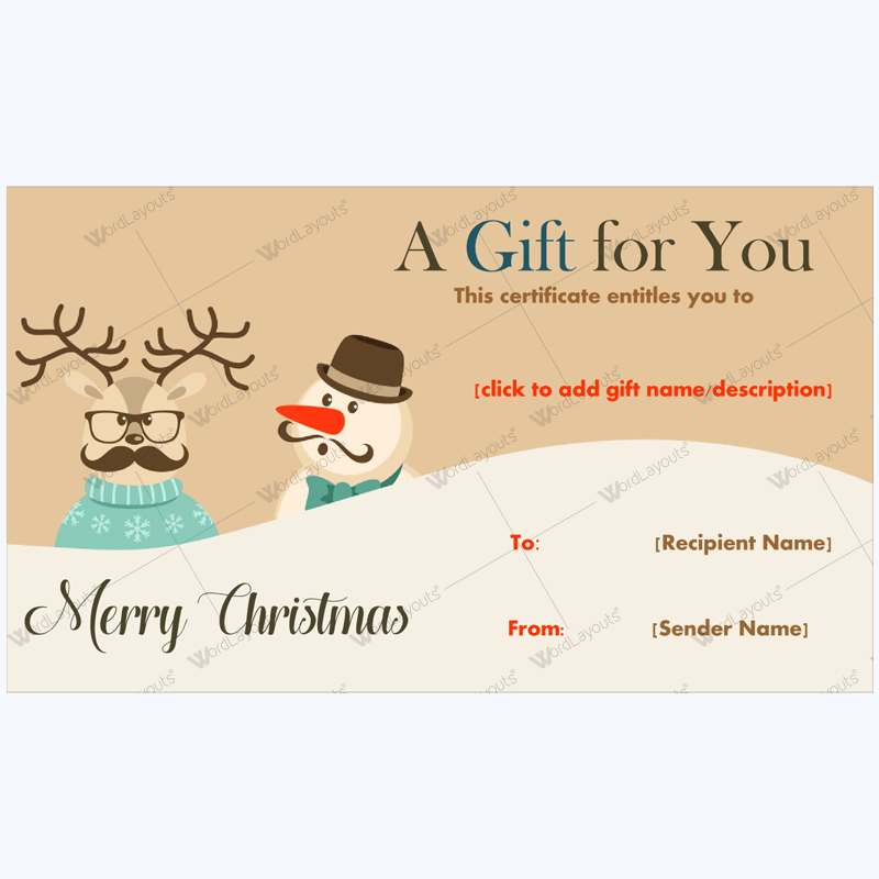 How To Word A Gift Certificate Christmas Gift Certificate Template 24  Pinterest  Gift .