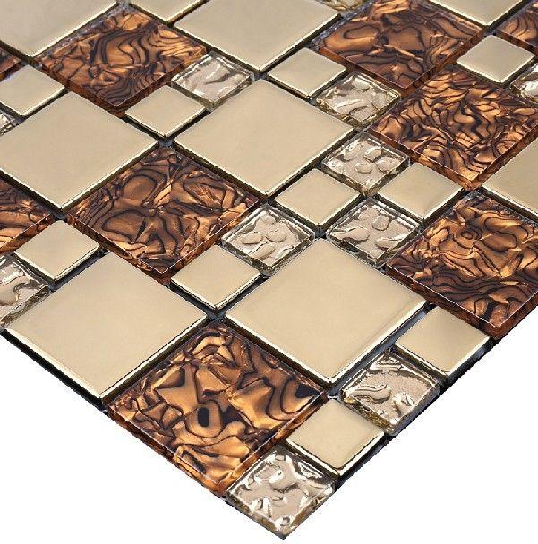 Glass Mosaic Tile Glass Mosaic Tiles Glass Tile Glass Tile Mosaic Tile Mosaic Glass Mosaic Tile Backsplash Glass Tile Backsplash Kitchen Stainless Backsplash