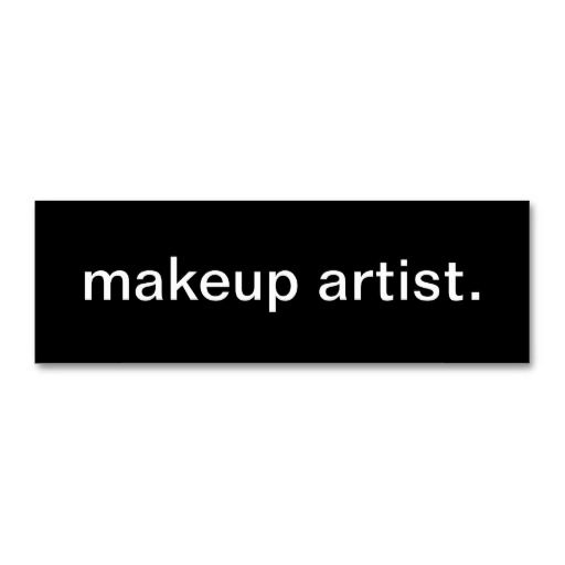 Makeup Artist Business Card Feng Whamu Pinterest Makeup