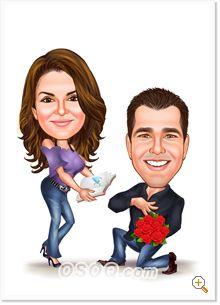bridesmaid caricature groomsman caricature wedding caricature family portrait caricature portrait CUSTOM CARICATURE portrait cartoon,