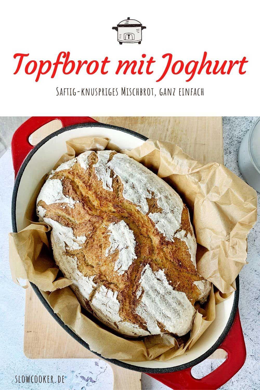 Topfbrot mit Joghurt und Dinkel | Langsam kocht besser
