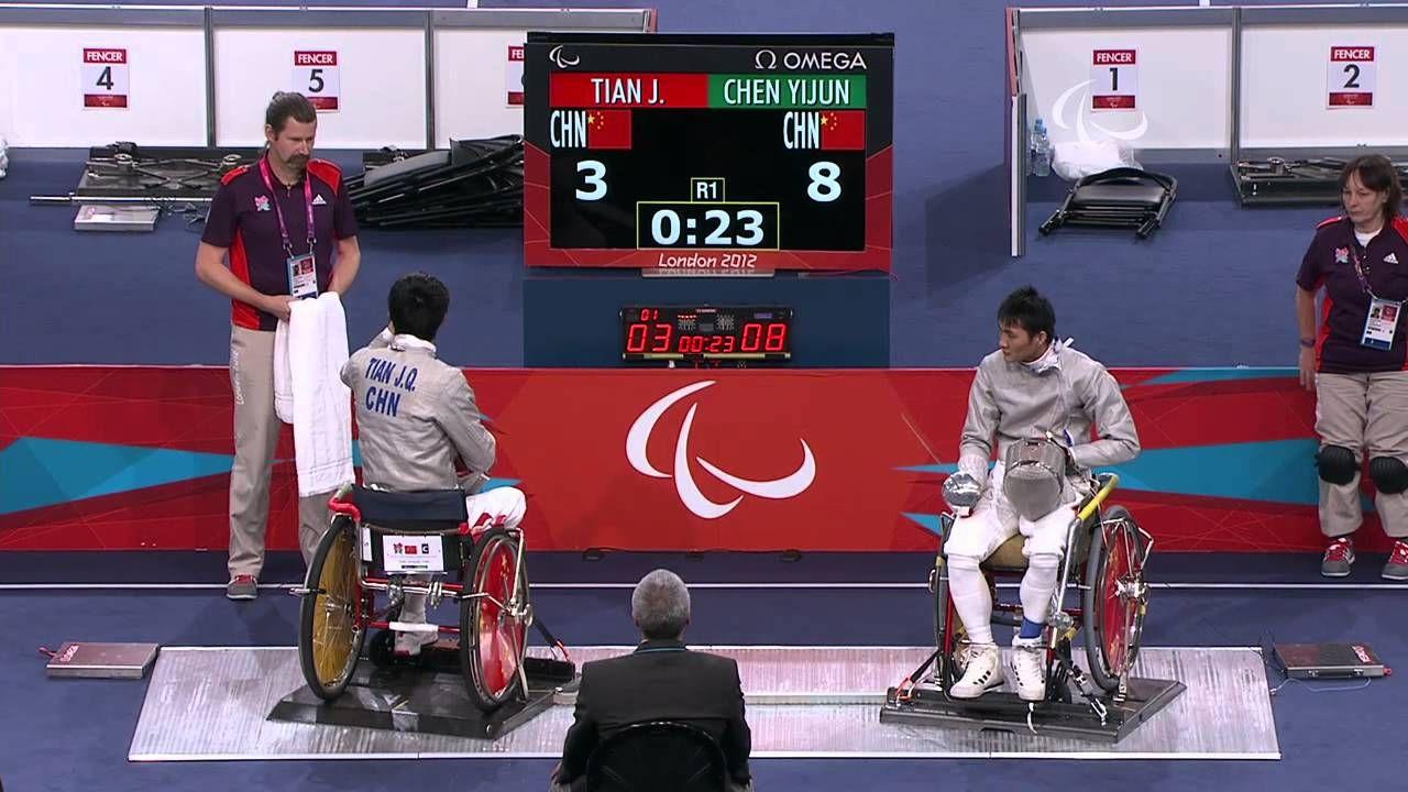 """Wheelchair Fencing CHN vs CHN Men's Ind Sabre Cat"